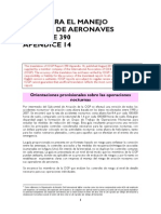 Interim guidance on night operations - Aircraft management guidelines app. 14 - Spanish translation