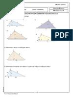 LIsta de exercícios Relações Métricas Geometria 9ºano 2015