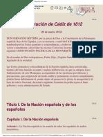 Constitucion de Cadiz 1812