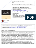 1 - Ali - Defense Spending, Natural Resources and Conflict