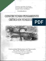 Construyendo Pensamiento Crítico en Venezuela - Articulo EB