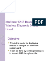 Multiuser SMS Based Wireless Electronic Notice Board.pptx