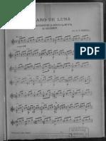 Claro de Luna score sheet for Guitar