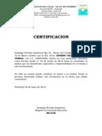 Certificaciones de Trabajo
