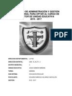 Proyecto Educativo Institucionalización 2015