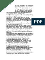 El Rango de Dosifi Cación Específi Co Del POZZUTEC CLIMAS FRIOS