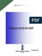 02 -Struttura e Proprietà Dei Metalli