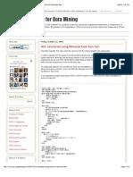 SAS Programming for Data Mining