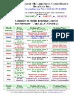 Synerquest-Public Training Calendar for February-June 2015 Ver3