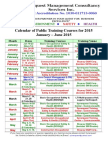 Synerquest-Public Training Calendar for January-June 2015 Ver1