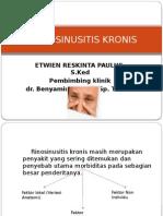 Rhinosinusitis Kronis Ppt Sabtu