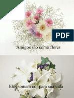 AMIGOS SÃO COMO FLORES.ppt