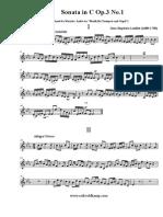 Loeillet Sonata in C Picc inA