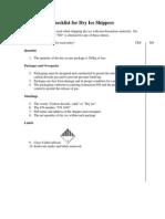 Dryice Checklist