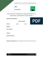 Inventario Arqueológico de Extemadura