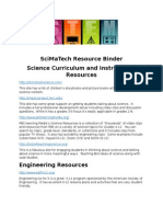SciMaTech STEM Resources With Website Links