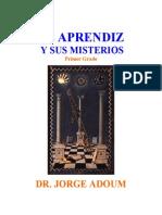 Adoum Jorge - Aprendiz y Sus Misterios - 88 Pgs