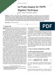 Broadband Pulse shapes for PAPR Mitigation Technique