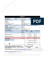 Compact Billing Invoice Template