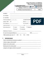 Ficha de Inscripcion Voluntarios Francisco en El Alto