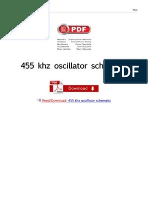 455 Khz Oscillator Schematic   Electronic Oscillator