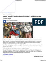 """Janio_ Prender Só Dentro Da Legalidade é Fundamento Da Democracia _ TIJOLAÇO _ """"a Política, Sem Polêmica, é a Arma Das Elites."""""""