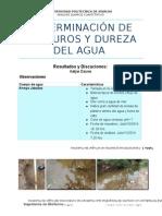 Determinación de Cloruros y Dureza Del Agua