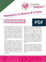 Appel à signer la MotionB Paris