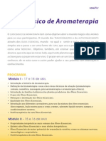 Curso Básico de Aromaterapia - Campinas-SP - Em 04 módulos