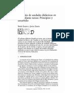 El diseño de unidades didácticas en L2 mediante tareas