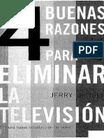 4 Buenas Razones Para Eliminar La Tv