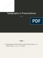 Typography in presentations