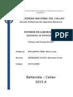 Informe de Dureza Brinell-Materiales II