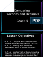lesson  1  comparing fractions and decimals