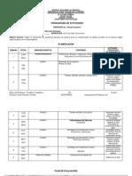 Planificacion Semanal y Evaluacion