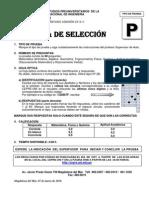 Prueba Seleccion Pre 2010 II