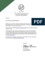 Original Filing - Assumed Name Acknowledgement 4-30-2015