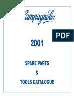 2001 Campagnolo Spare Parts Catalog
