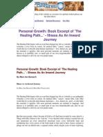 Personal Healing - Illness as an Inward Journey