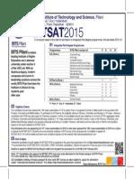 Bitsat 2015 Adv