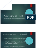 Security @UNB - a presentation to AtlSecCon