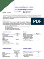 Executive Summary School Accountability Report Card, 2008-09