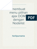 membuat menu pilihan ajax DOM dengan Nodelist