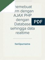 memebuat form dengan AJAX PHP dengan Database sehingga data realtime
