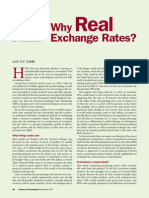 Why Real Exchange Rates