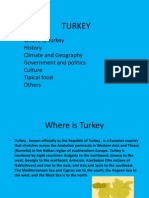 Where is Turkey History Climate and Geography
