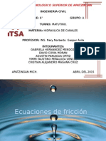 Ecuaciones de Friccion