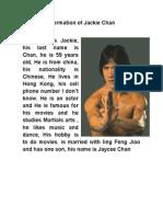 Jacki Chan.