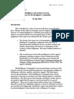 Iraq War Intelligence Report