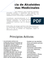 Presencia de Alcaloides en Plantas Medicinales